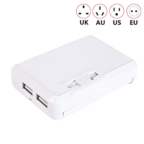 MOCHEN Adaptador De Viaje con Enchufe USB,con 2 Puertos USB ...