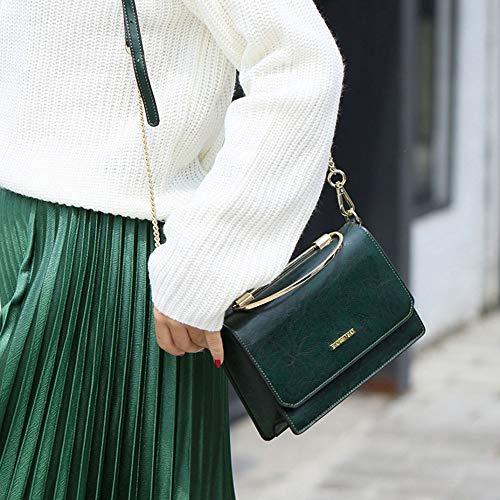 à Rétro Trois Chic Style Nouveau KYOKIM En Bandoulière Main à Bandoulière Dimensions Sac Green Sac qa8wWf