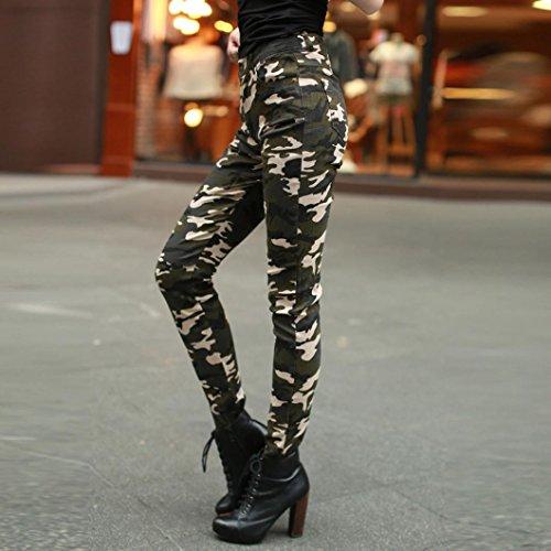 4c125ae6df3c ... Damen Camo Hose, Zarupeng Casual Hohe Taille Hosen Slim Fit Leggings  Camouflage Skinny Bleistift Hosen ...