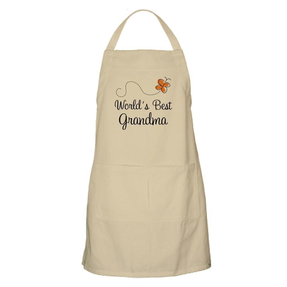 Amazon.com: CafePress - Worlds Best Grandma Apron For The ...
