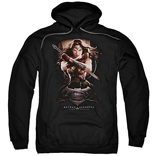 Trevco Men's Batman Vs. Superman Ww Ground Zero Hoodie Sweatshirt at Gotham City Store