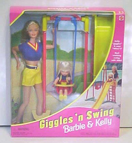 Barbie & Kelly Giggles \'n Swing Set Mattel