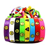 Joyin Toy 48 Pieces Emoji Emotion Silicone Wristband Bracelets Kids Party Favor