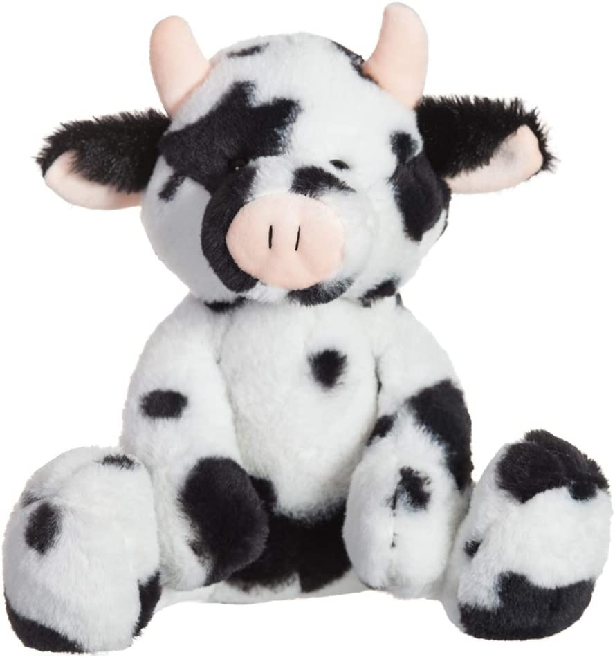 Apricot Lamb Toys Plush Classic Cow Stuffed Animal Soft Cuddly Perfect for Child ( Classic Cow, 9 Inches)