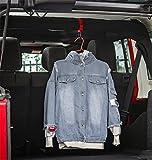 Highitem Roll Bar Coat Hook for Jeep Wrangler JL YJ TJ JK JKU Sports Sahara Freedom Rubicon X & Unlimited X 2/4 Door