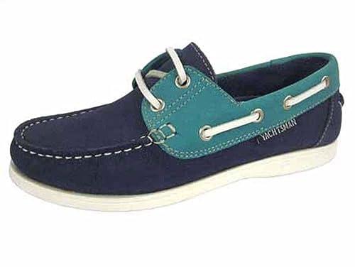 066a00039c0e7 Heavenly Feet Womens yachtsman Marine Vert Deck Chaussures - Bleu - Bleu  Marine,