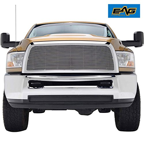 EAG Replacement Grille for 10-12 Dodge Ram 2500 3500 - Aluminum Billet Upper Front Grill