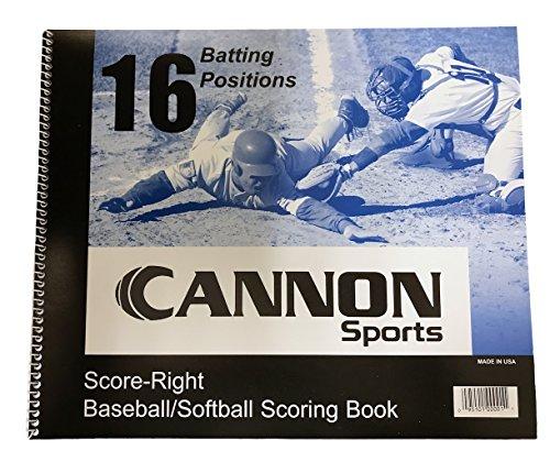CSI Cannon Sports 16 Position Baseball/Softball Scorebook