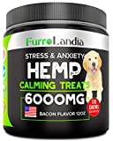 Organic Hemp Treats - Calming Treats for Dogs - 170 Soft Chews - Made in USA - Hemp Oil for Dogs - Dog Anxiety Relief - Natural Calming Aid - Stress - Fireworks - Storms - Aggressive Behavior