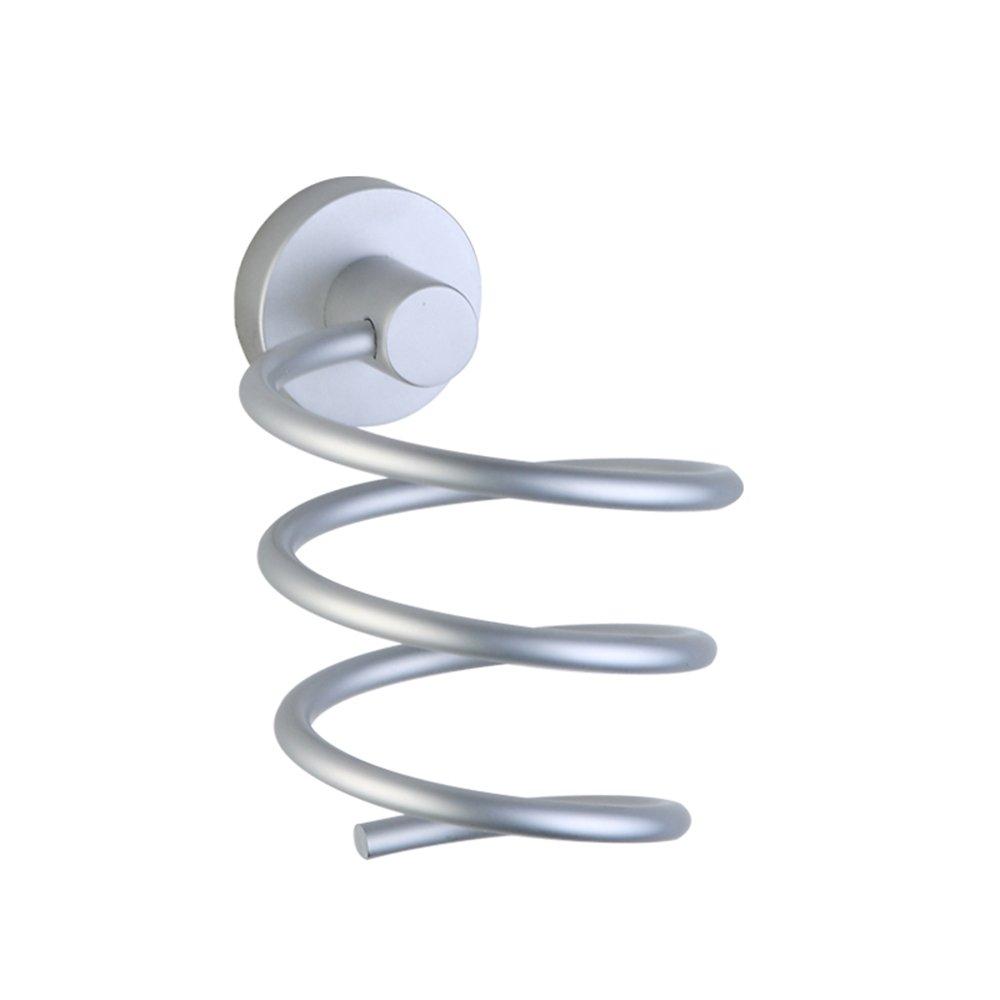 MyLifeUNIT Asciugacapelli supporto da appendere per bagno, in alluminio