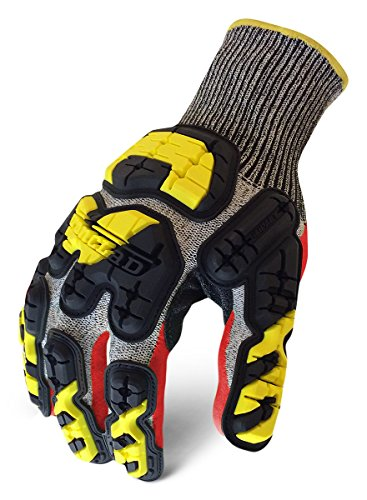 Ironclad KONG INDI-KC5-04-L Industrial Impact Knit Cut 5 Oil & Gas Safety Gloves, Large by Ironclad