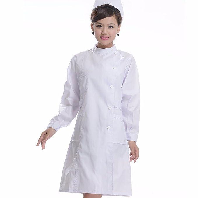 Xuanku Vestido De Manga Larga De Engrosamiento, Doctor, Abrigo Blanco, Manga Larga,