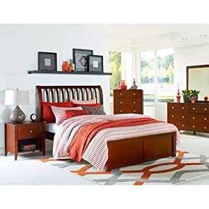 Hillsdale Furniture 31033N Pulse Rake Sleight Bed Queen Cherry
