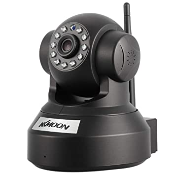 KKmoon 720P HD Cámara IP de Vigilancia WiFi (H.264, 1MP, 1/4