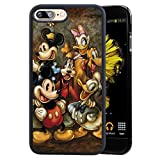 DISNEY COLLECTION Phone Cover for iPhone 7 Plus iPhone 8 Plus Mickey Mouse and Donald Duck Case Black Shockproof TPU and Hard PC Back Design
