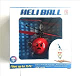 Heli Ball flying Helicopter ball Angry red Emoji face Hovers 15 feet with palm