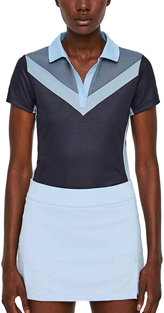 LINDEBERG Ladies Lilly TX Jacquard Polo Jl Navy X-Small J