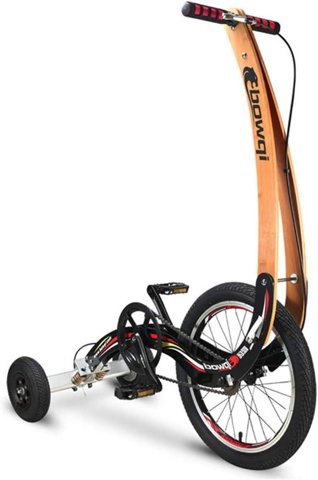 Xiaolizi 2020 Nueva Plegable Bicicleta estática, Mini Montar en Bicicleta sin Asiento de Soporte, Bicicleta de Perder Peso, Motos Deportivas de 20 Pulgadas portátil, Triciclo Aptitud para Unisex.