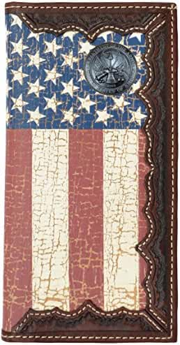 Custom United States Army American Flag Long Wallet with Distressed United States Flag