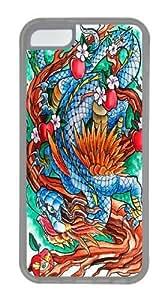 Dragon II Custom iPhone 5C Case Cover TPU Transparent