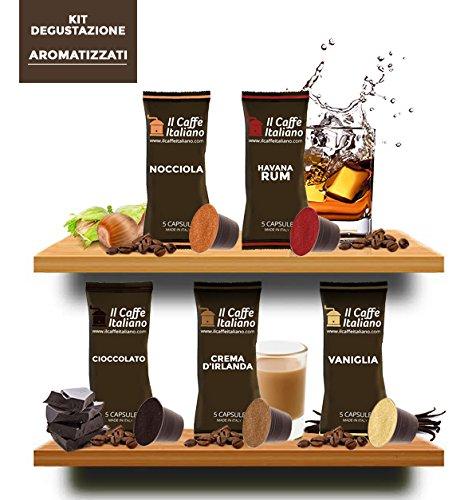 50 Cápsulas de cafè compatibles Nespresso - kit degustación de 50 cápsulas cafè saborizado compatibles con máquinas Nespresso - Il Caffè italiano - FRHOME: ...