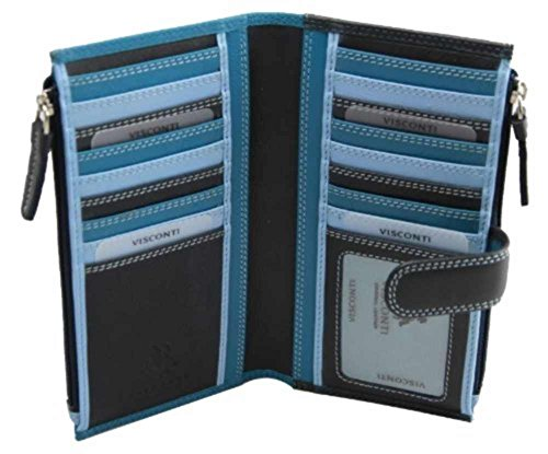 visconti-bermuda-rb100-multi-color-womens-soft-leather-large-wallet-purse-clutch-blue