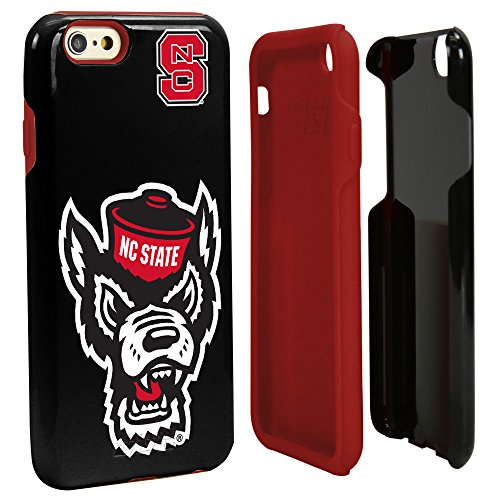 Guard Dog NCAA North Carolina State Wolfpack Hybrid iPhone 6 Case, Black, One - Wolfpack Piece Nc State 2