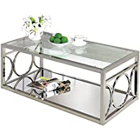 Suh Chrome Glass Coffee Table