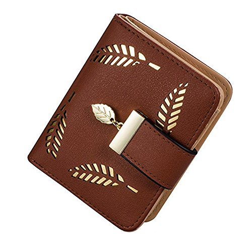 Price comparison product image Women's Wallet Long Zipper Elegant Genuine Leather Purse Small Card Pocket