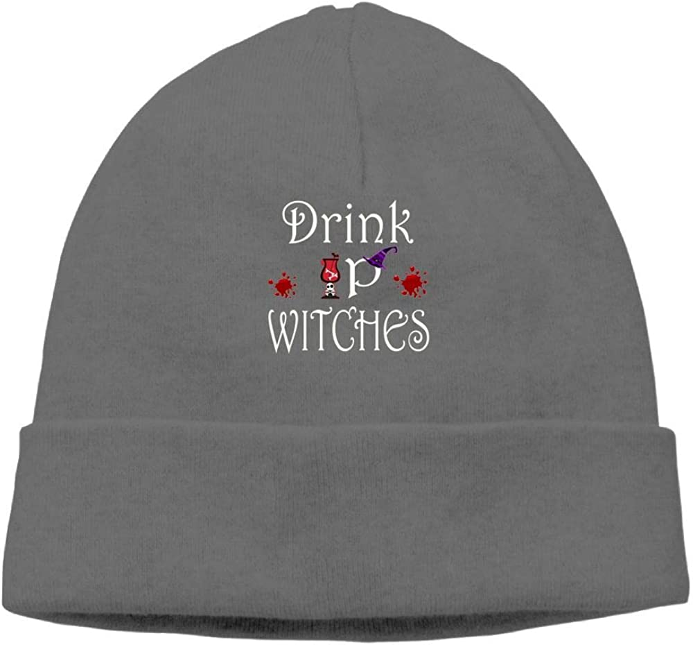Aiw Wfdnn Beanie Hat Drink Up Witches Snapback Knit Cap for Men