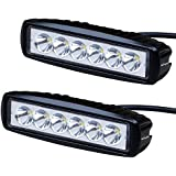 Nilight 2PCS 18w LED Spot Work Light Off Road Led Lights Bar Fog Driving Bar Jeep Lamp,2 years Warranty