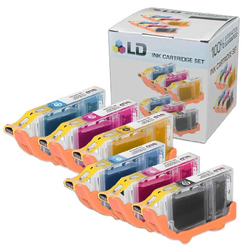 LD Compatible Ink Cartridge Replacement for Canon BCI6 (Black, Cyan, Magenta, Yellow, Photo Cyan, Photo Magenta, 6-Pack)
