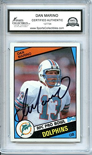 Dan Marino 1984 Topps Miami Dolphins Autographed Trading Card - Certified (Dan Marino Autographed Dolphins)