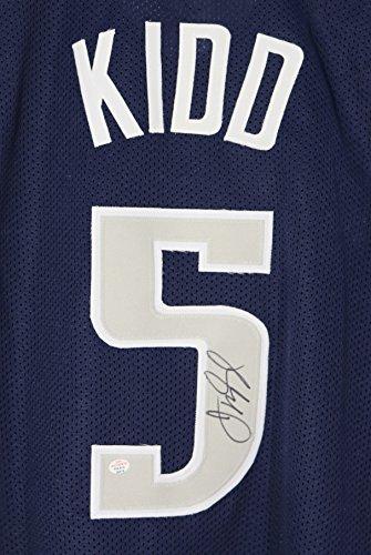 Jason Kidd Dallas Mavericks Signed Autographed Blue #5 Custom Jersey PAAS - Mavericks Dallas Custom Jersey