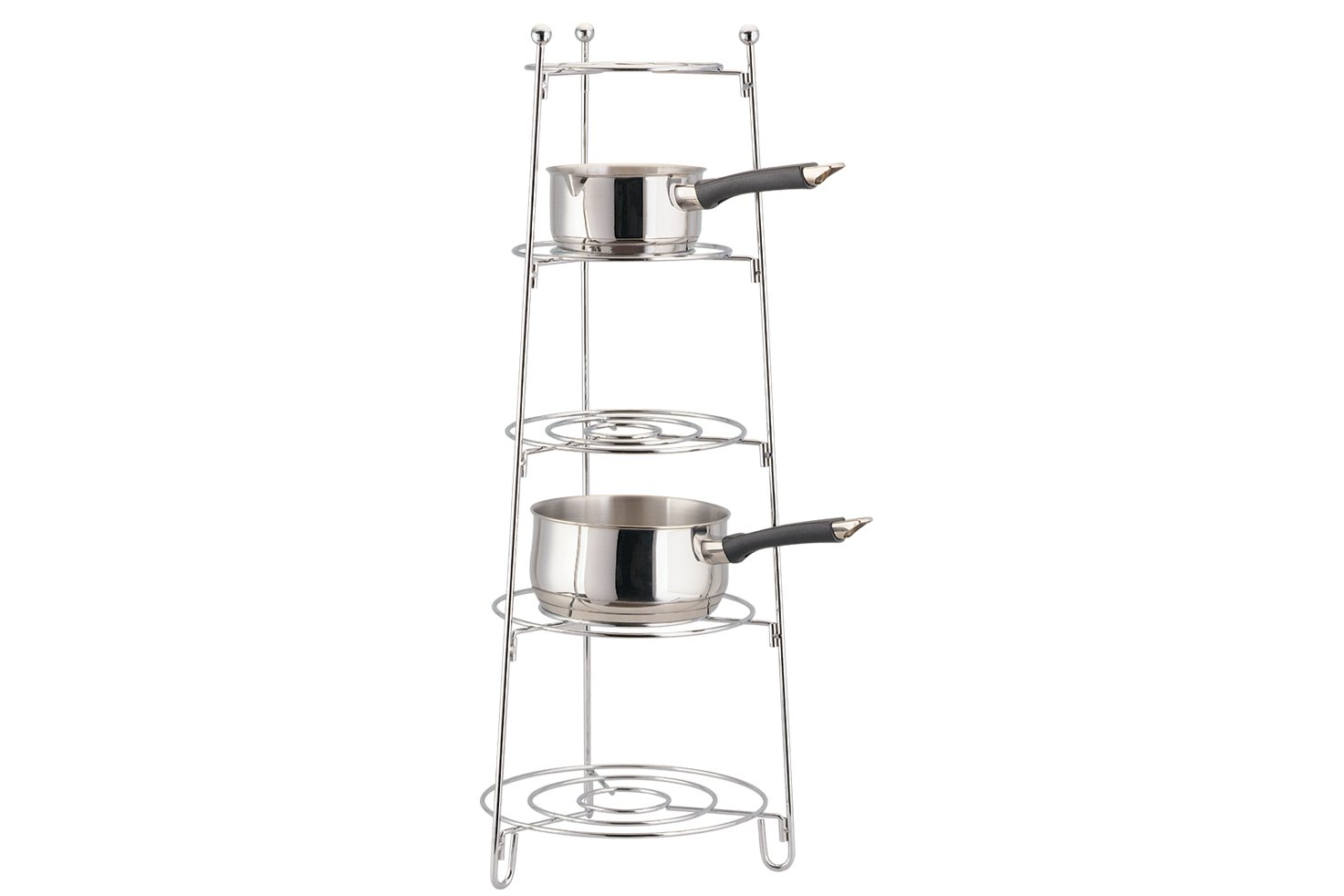 Apollo 28 x 28 x 80 cm 5-Tier Saucepan Stand, Chrome 1206