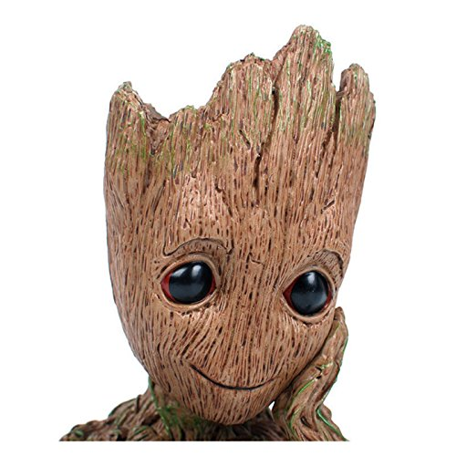 B-Best Guardians of The Galaxy Groot Pen Pot Tree Man Pens Container Or Flowerpot with Drainage Hole Perfect for a Tiny Succulents Plants and Best Gift Idea 6'' by B-BEST (Image #4)'
