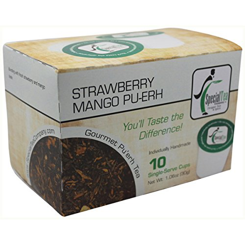 Special Tea Company Strawberry Mango, Pu-erh Tea Single Serve Cup (Pack of 10)