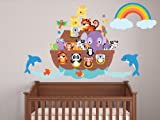 Sunny Decals Noahs Ark Fabric Wall Decal
