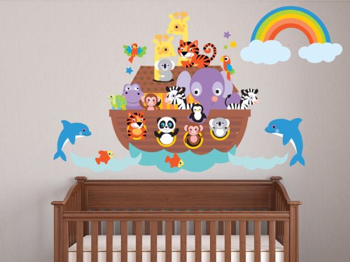 Sunny Decals Noahs Ark Fabric Wall Decal by Sunny Decals