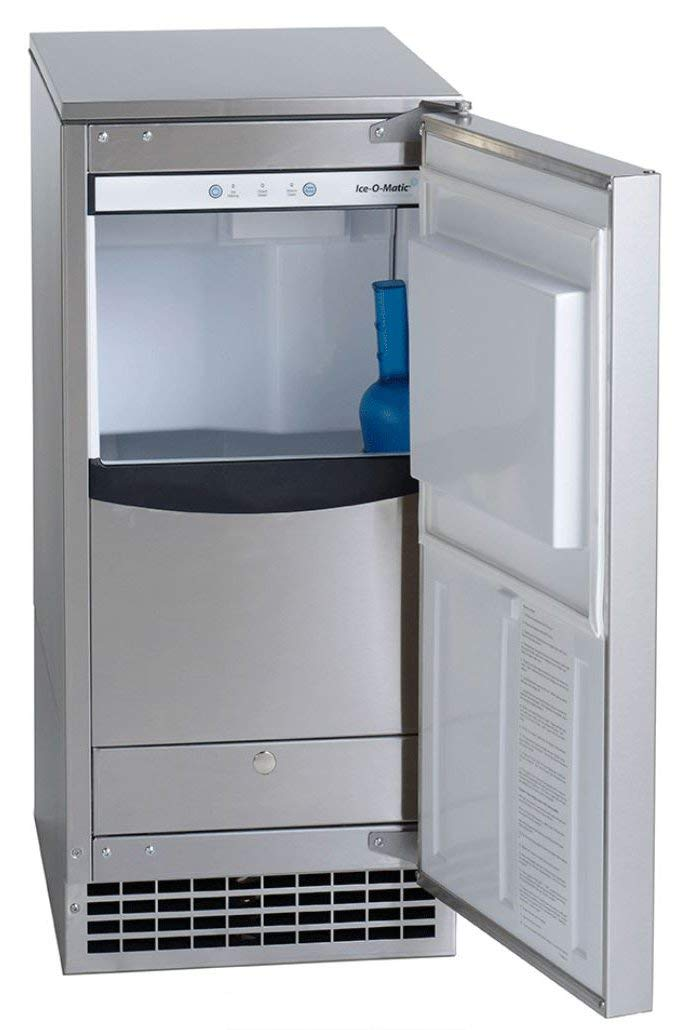 Ice-O-Matic GEMU090 Pearl Self-Contained Ice Machine with Air Condensing Unit Pure Ice Technology 115 Volt Plug-In and…