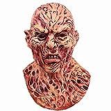 molezu Freddy Krueger Latex Mask, A Nightmare on Elm Street Freddy Krueger Horror Mask, Halloween Costume Decoration Cosplay Party Deluxe Scary Mask