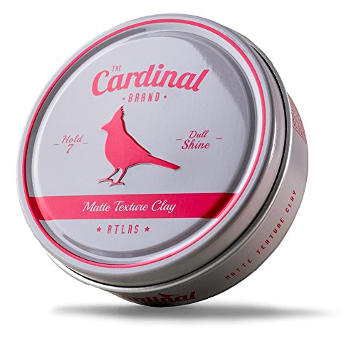 Pomade Lightweight (The Cardinal Brand Atlas Matte Texture Clay 3.4 Ounce is an Ultra Lightweight, Matte Hair Clay, Medium to Firm Hold, Thickening, Volume Building, Hair Styling and Grooming Product for Men and Women)