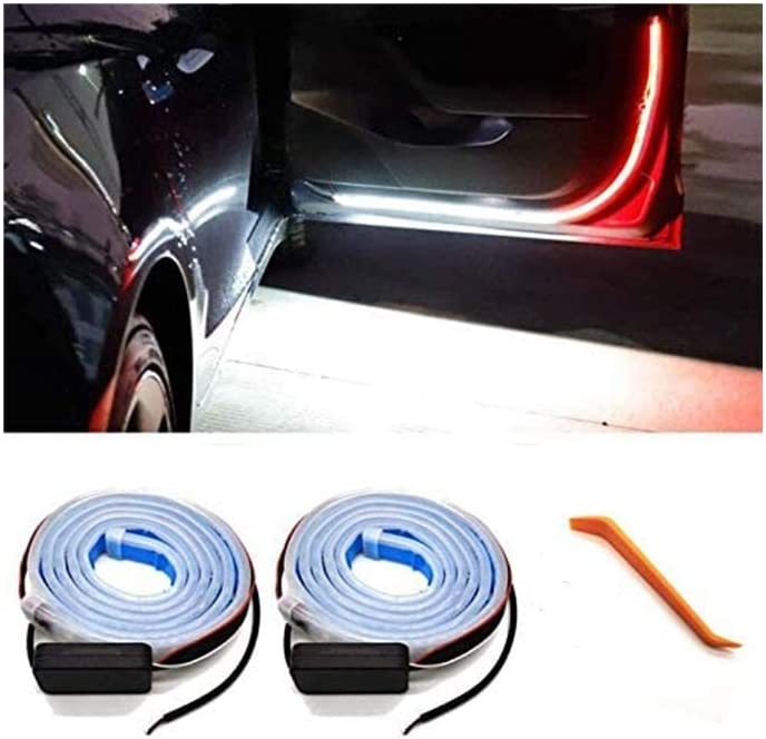 2 Strip Universal Anti Collision Durable Safety Side Lights Easy Installation Waterproof LED Strip Lights for Any Car//SUV//Truck. FenJus Car Door Warning Light