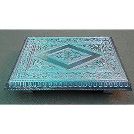 RAG HANDICRAFTS Aluminium Patla (Silver, 7x10 Inch)