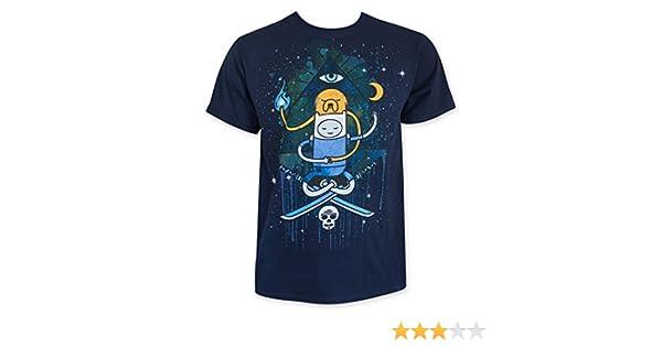 Hora de aventuras de hombre Azul Marino iluminar Tee Shirt: Amazon.es: Ropa y accesorios