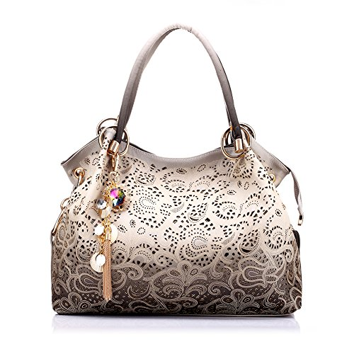 (Realer Women's Designer Handbags Tote Purse PU Leather Fashion Top Handle Bags)