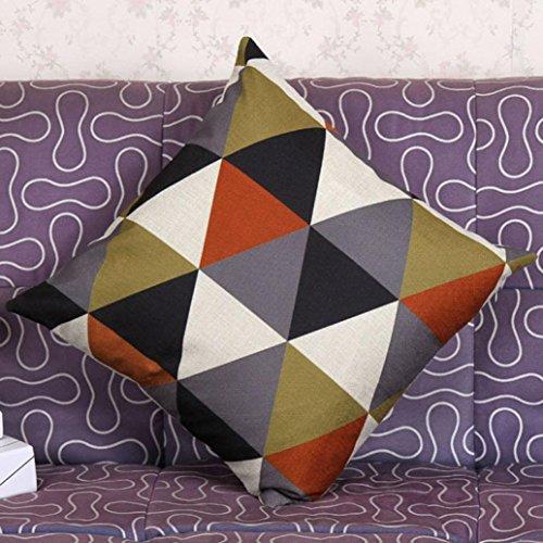 [Baishitop Luxury Geometric Pillowcases Cushion Covers-45cm x 45cm (Orange)] (Dark Magician Costumes Pattern)