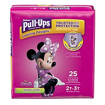 Pull-Ups Learning Designs Potty Training Pants for Girls, 2T-3T (18-34 lb.), 25 Ct. (Packaging May Vary)