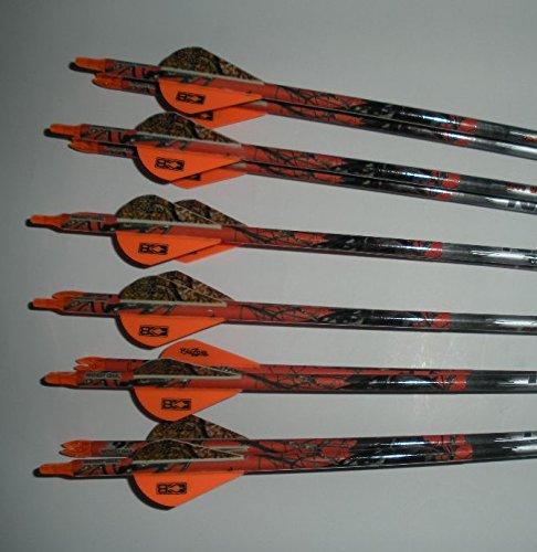Deep Six XD Easton 340 Arrows w/Blazer Vanes Mossy Oak Wraps 1 Dz.