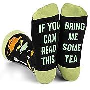 Lavley - Mens Novelty Socks - Funny Novelty Dress Socks For Men and Women (Tea)